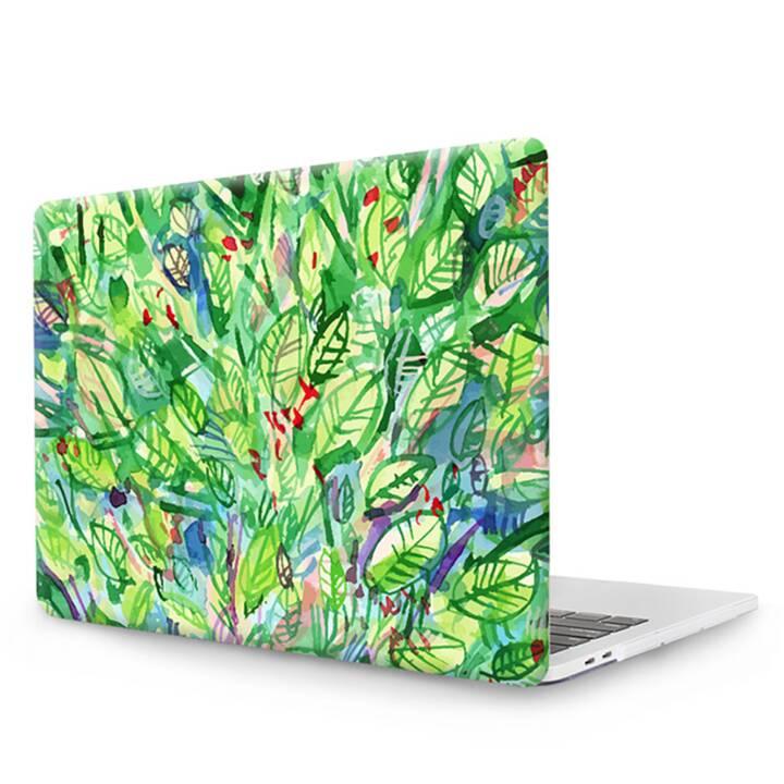 """EG MTT Copertina per computer portatile con tastiera, protezione antipolvere, penna a sfera per MacBook 12"""" Retina - Foglie verdi"""