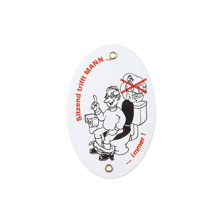 MÜNDER EMAIL Männer-Toiletten-Gebot Deko Schilder (15 cm x 0.5 cm, Weiss, Rot, Schwarz)