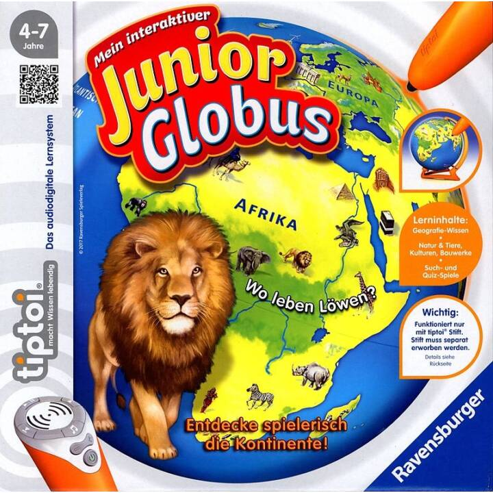 TIPTOI My interactive Junior Globe Jeu d'apprentissage
