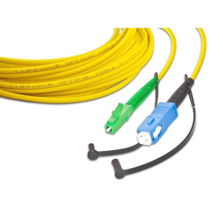 LIGHTWIN Câble réseau (LC Single-Modus, Fiche E-2000 (APC), 5 m)