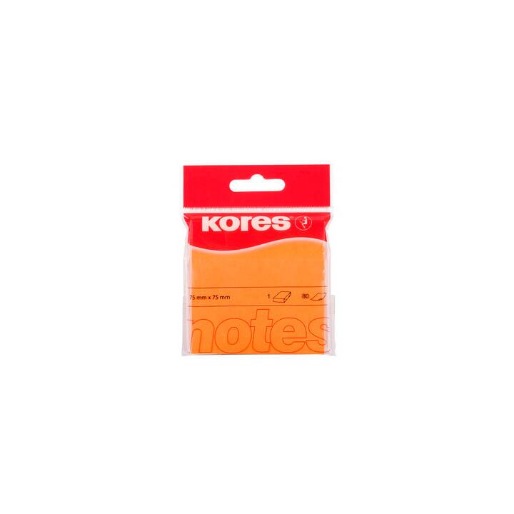 KORES Haftnotizen (7.5 cm x 7.5 cm, Orange)