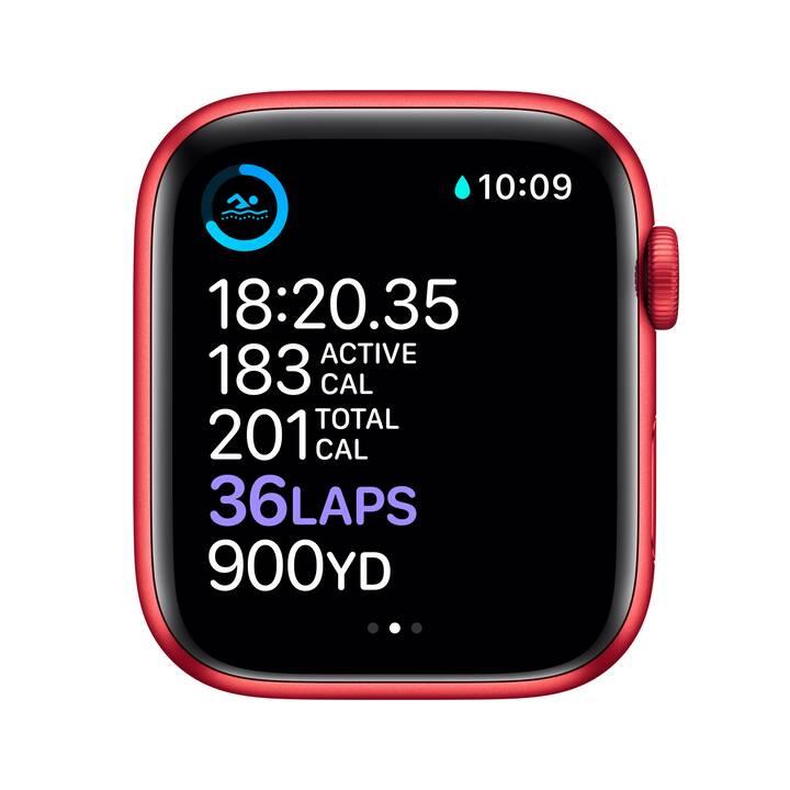 APPLE Watch Series 6 GPS (44 mm, Alluminio, Silicone)