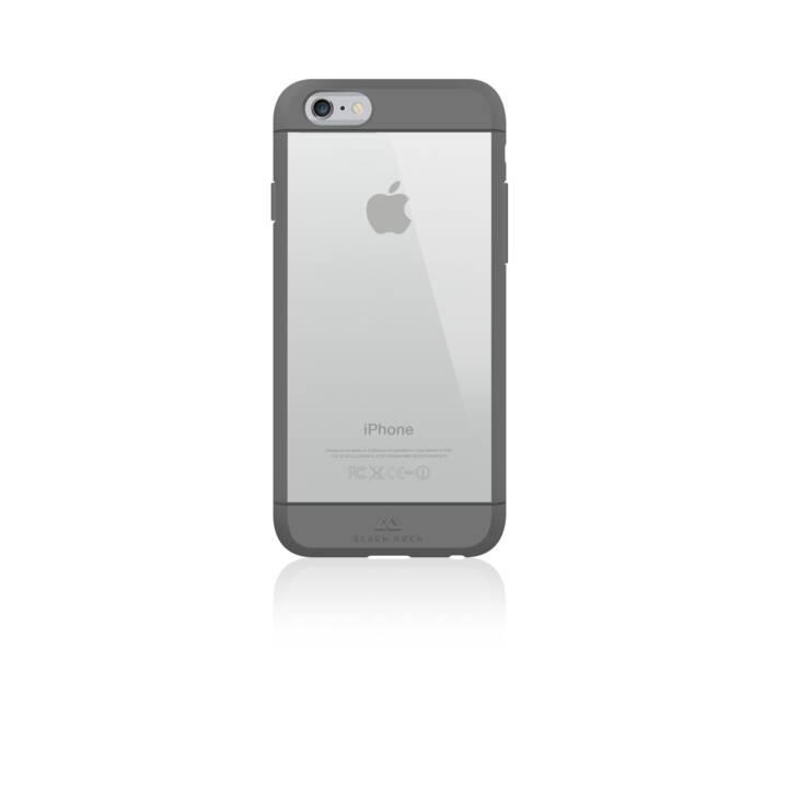 BLACK ROCK Backcover Material (iPhone 6, iPhone 6s, Transparente, Grigio)