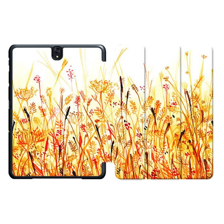 """EG MTT Sacoche à comprimés avec housse pliable Smart pour Samsung Galaxy Tab S3 9.7"""" MTT - Orange Flowers"""