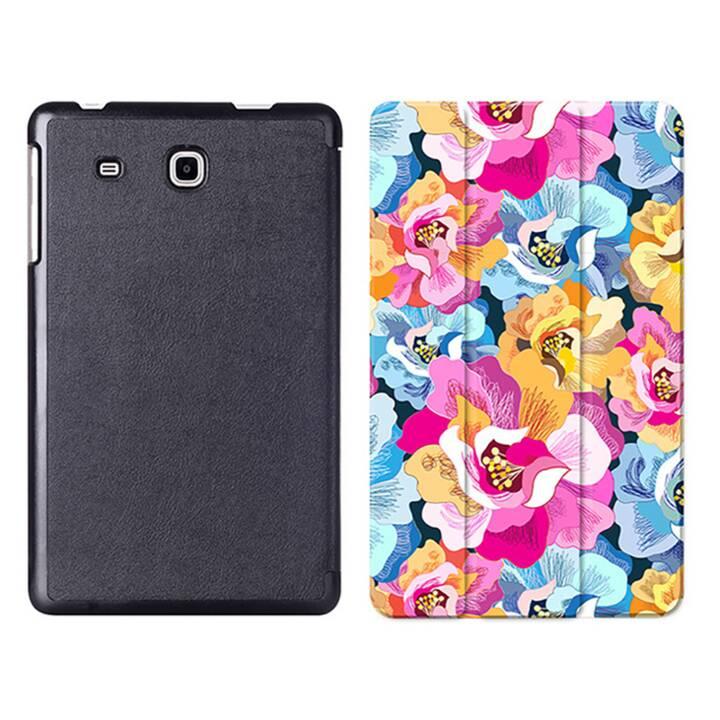 """EG MTT Tablet Tasche mit Smart faltbare Abdeckung für Samsung Galaxy Tab A A6 7 """"- Rosa Blumen"""