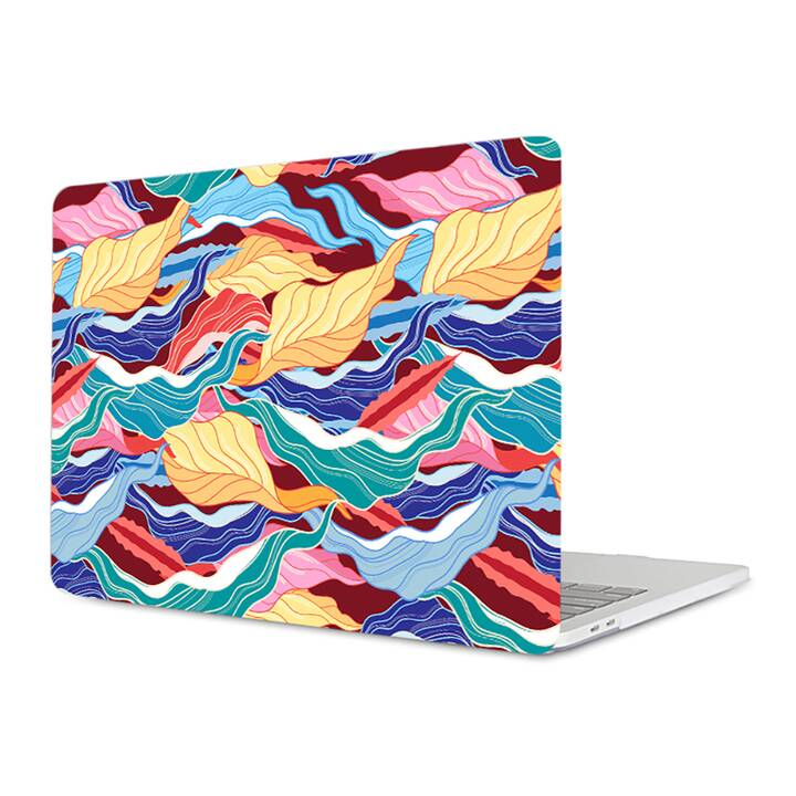 """EG MTT housse pour Macbook Air 13"""" - feuilles de couleur"""