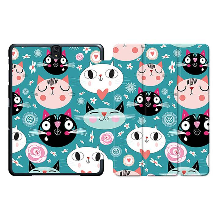 "EG MTT Tablet Bag con coperchio pieghevole Smart per Samsung Galaxy Tab S3 9.7"" - Cartoon Cats MTT"
