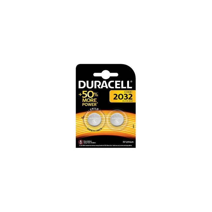 DURACELL Batterie (CR2032, Armbanduhr, 2 Stück)