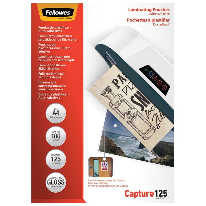 FELLOWES Film laminé Capture A4 125 microns