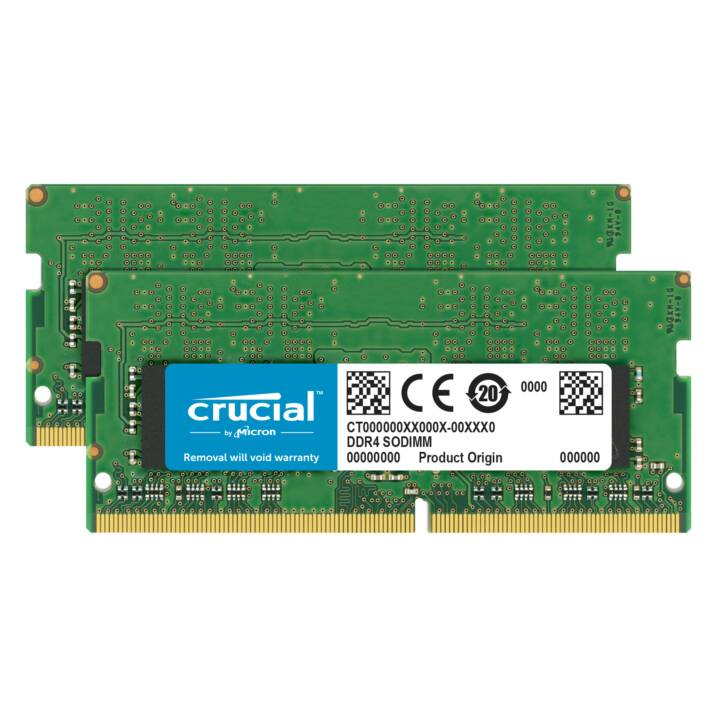 Crucial - DDR4 - 32 GB: 2 x 16 GB - SO DIMM 260-pin