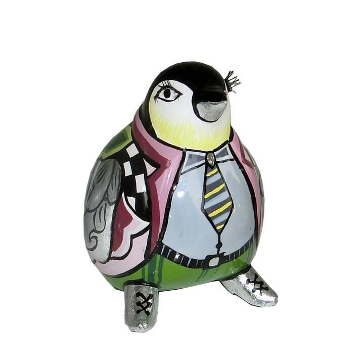 TOM'S DRAG Deko-Figur Pinguin S Lasse Silver Line (Mehrfarbig)