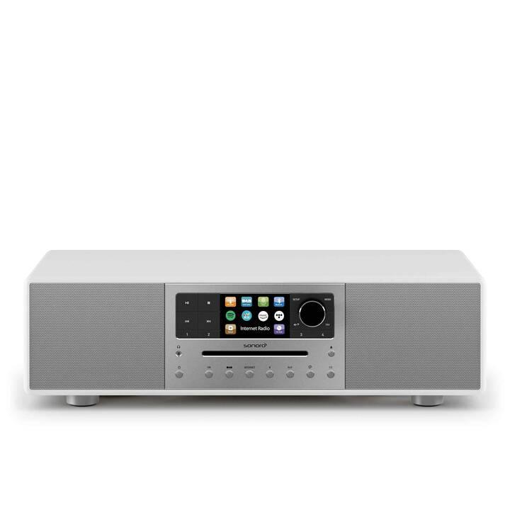 SONORO AUDIO Meisterstück (Weiss, WLAN, CD, Externes Wiedergabegerät, Bluetooth)