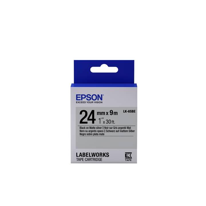 EPSON LabelWorks LK-6SBE Etiketten (2,4 cm x 9 m, 1 Stück)