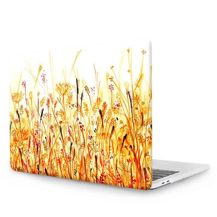 """EG MTT Copertina per computer portatile con tastiera, protezione antipolvere, penna a sfera per MacBook Pro 13"""" CD ROM - fiori gialli"""