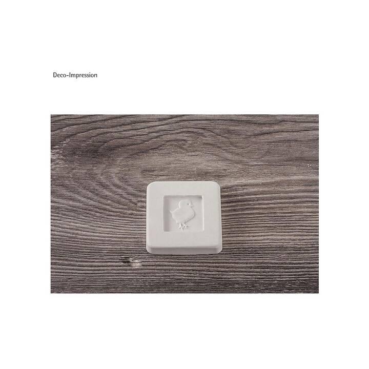RAYHER Inserto in rilievo 2,5x2,5 cm (Grigio)