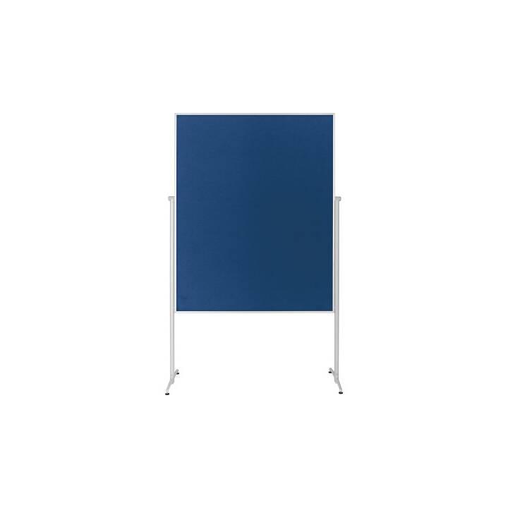 MAGNETOPLAN scheda di presentazione in feltro blu indiviso, mobile 1200x1500mm