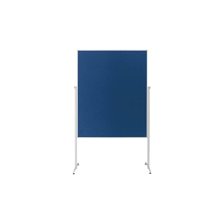 MAGNETOPLAN Moderationstafel Filz blau ungeteilt, mobil 1200x1500mm