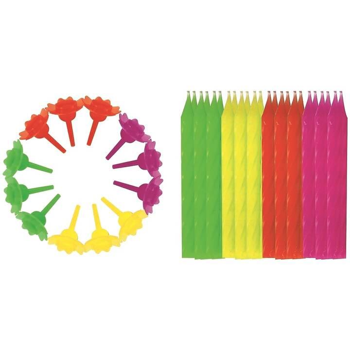 ROOST Candela di compleanno (Multicolore, 24 pezzo)
