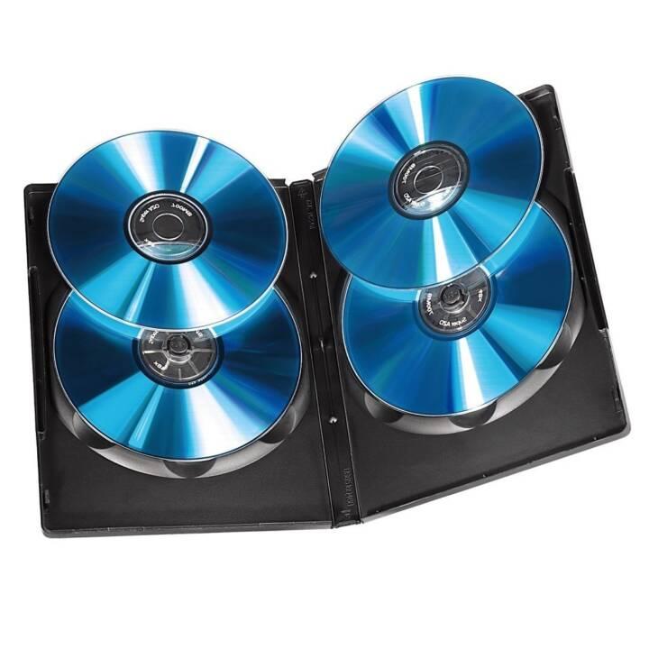 HAMA CD/DVD/BD-Leerhülle Quad Box, 5 Stück