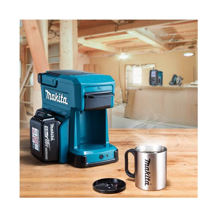 MAKITA DCM501Z 10.8V - 14.4-18V (Blu, Nero, 240 ml, Macchine caffè automatiche)