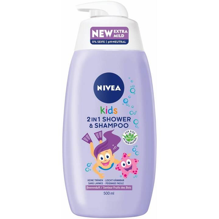 NIVEA Duschmittel 2in1 Shower & Shampoo Girl 500 ml