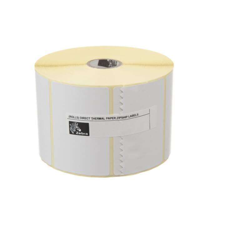 ZEBRA TECHNOLOGIES Thermo Transfer Etichette (Bianco, Nero)