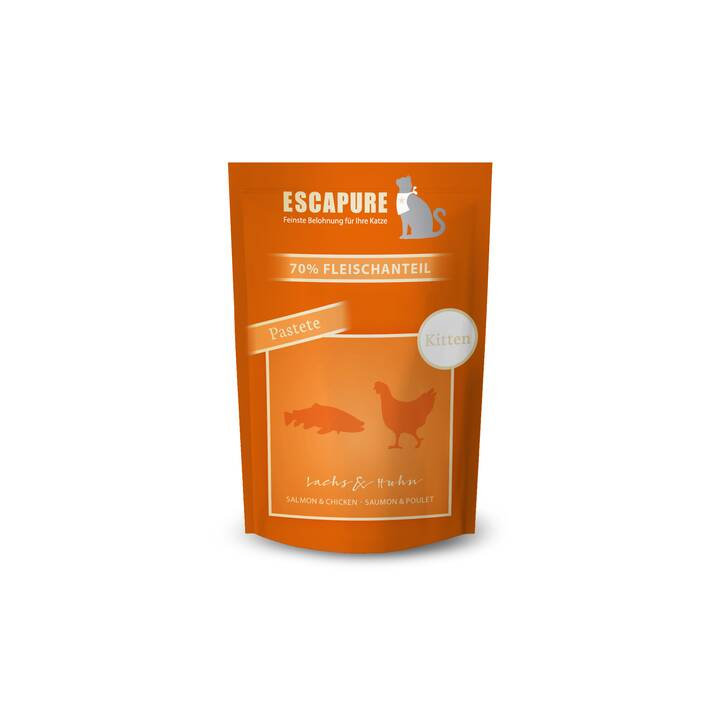 ESCAPURE Nassfutter (Junior, 100 g, Huhn, Lachs)