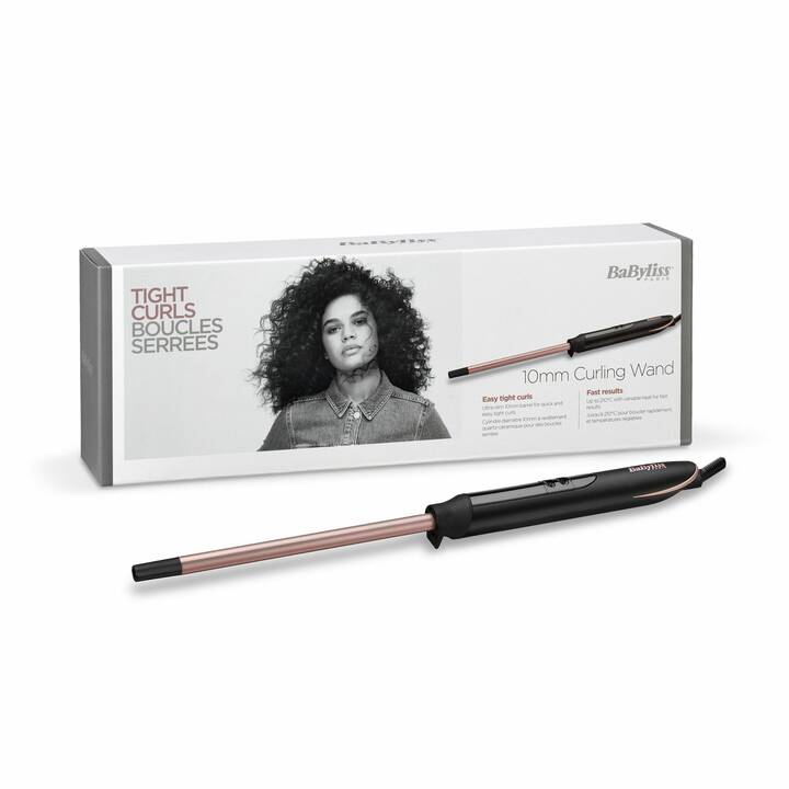 BABYLISS Rose Quartz C449E (10 mm, Nero, Rosa)