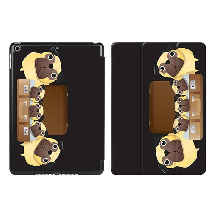 "EG iPad Sleeve pour Apple iPad 9.7"" 9.7"" 9.7"" - chiens de dessin animé noirs"