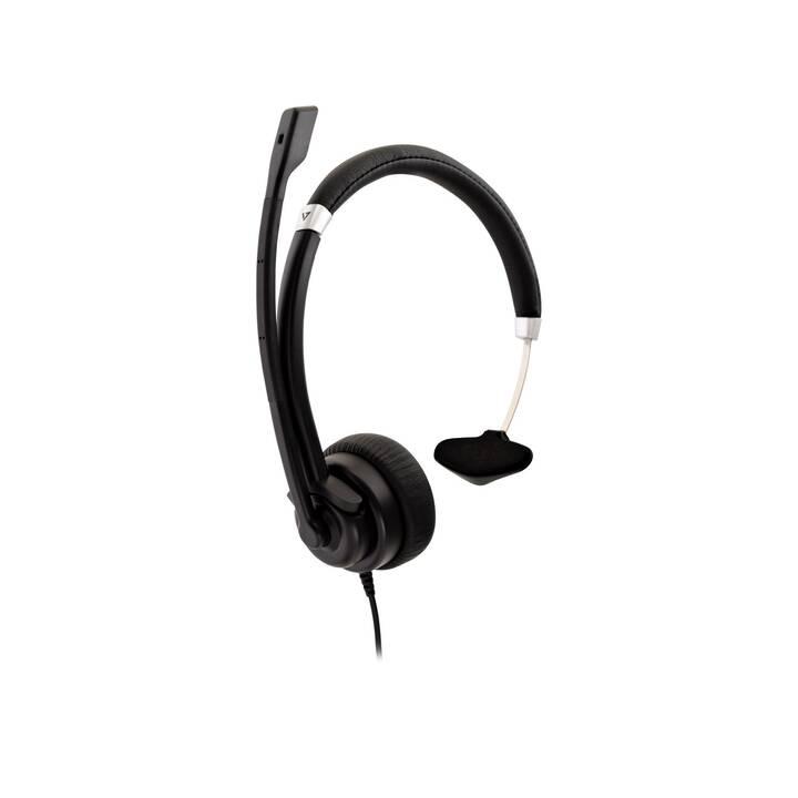 VIDEOSEVEN HU411 (On-Ear, Noir)