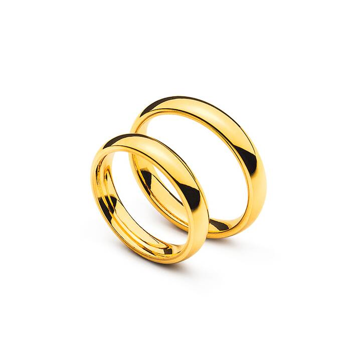 MUAU Comfort Fit Matrimonio band (66, Oro giallo)