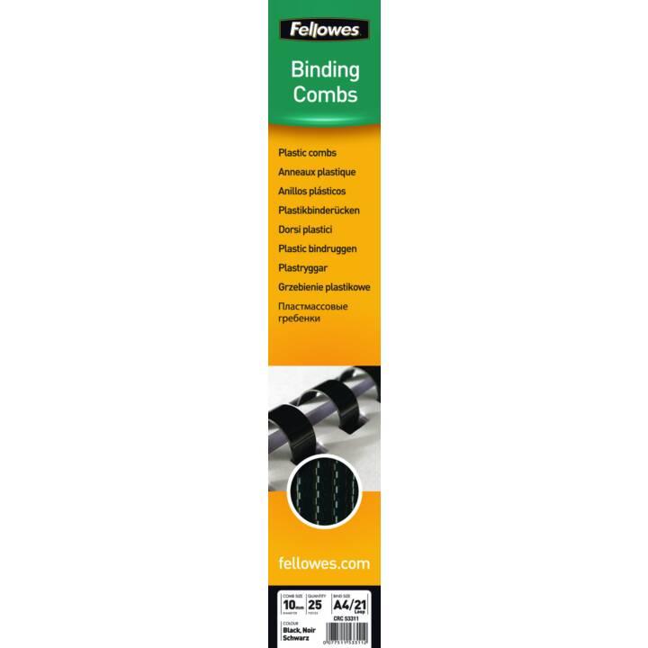 FELLOWES dos de reliure 10 mm, noir