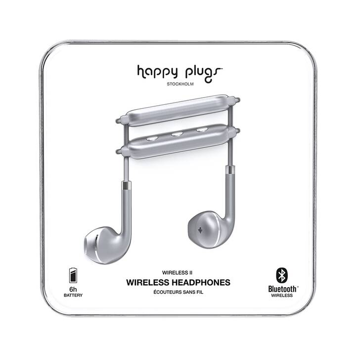 HAPPY PLUGS Wireless II SPACE GREY (In-Ear, Bluetooth, Grigio)