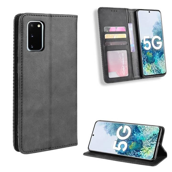 """EG Mornrise étui portefeuille pour Samsung Galaxy S20 6.2"""" 2020 - noir"""