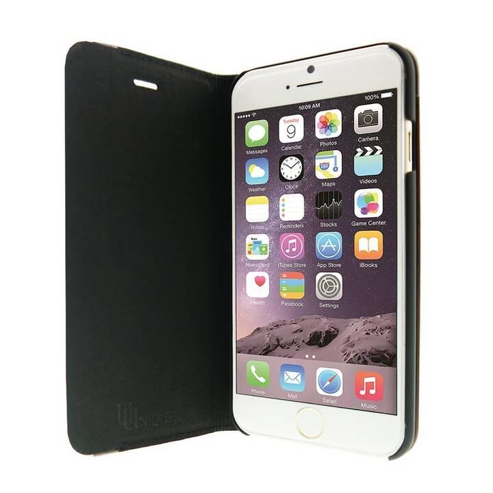 UUNIQUE Flipcover Aluedge (iPhone 6, iPhone 6s, Nero)