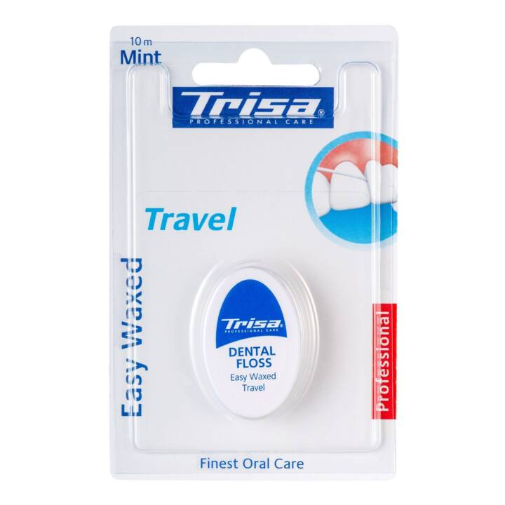 TRISA Easy Waxed Travel Fil dentaire, 10 m