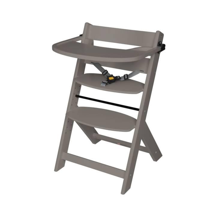 SCHARDT Chaise d'escalier Domino Grey avec plateau de jeu