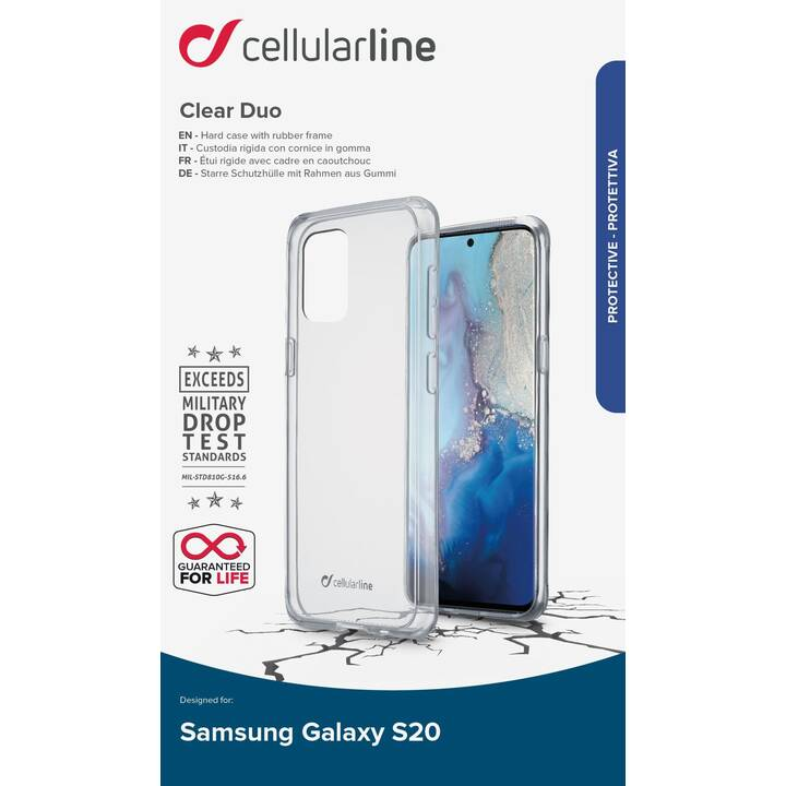 CELLULAR LINE Hardcase Clear Duo (Galaxy S20, Transparente)