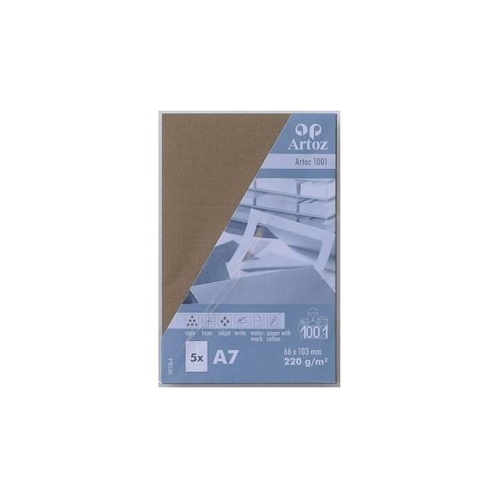 ARTOZ Visitenkarten 1001 A7 Olive - 5 Stück