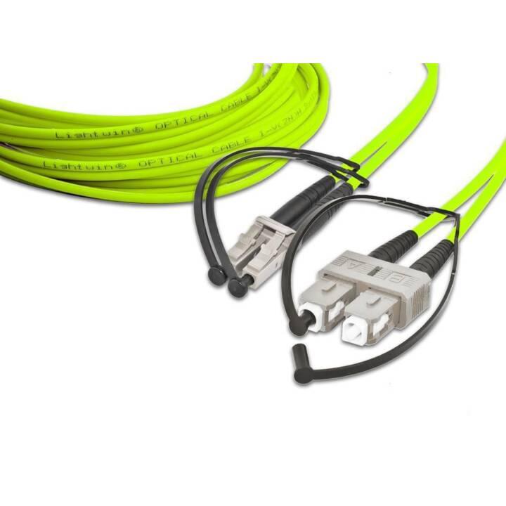 LIGHTWIN Netzwerkkabel (SC-Duplex, LC Multi-Mode, 20 m)