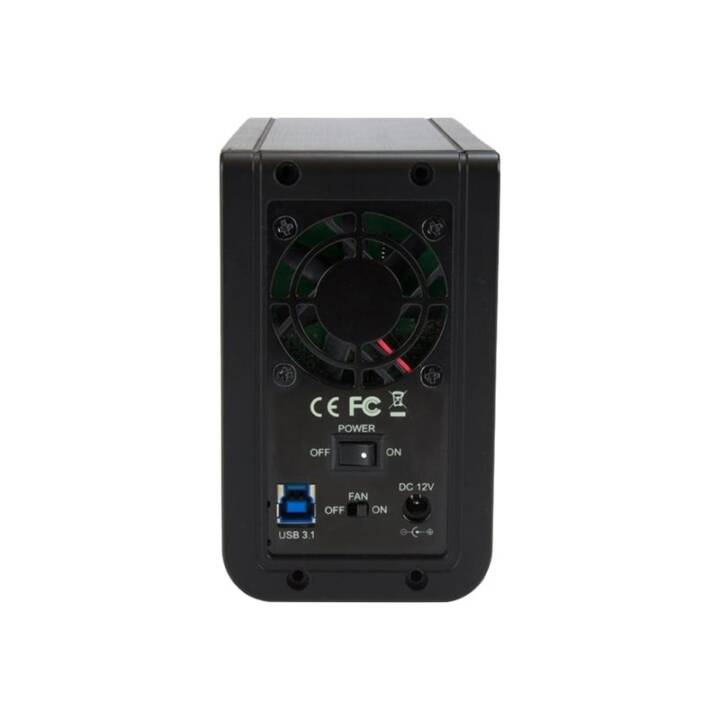 "STARTECH.COM USB 3.1 Dual 3,5"" SATA Festplattengehäuse mit RAID"