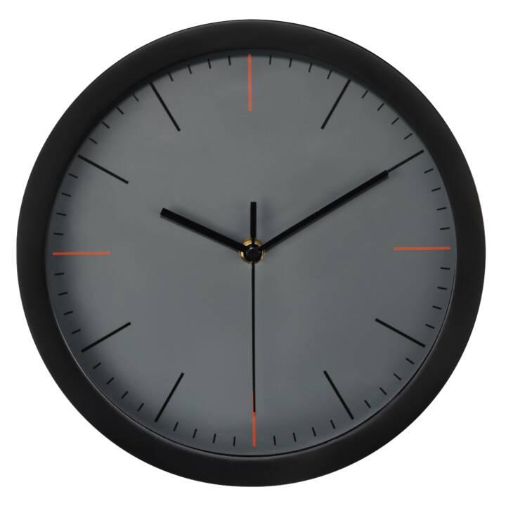 HAMA MaxR Horloge murale à quartz, noir, gris