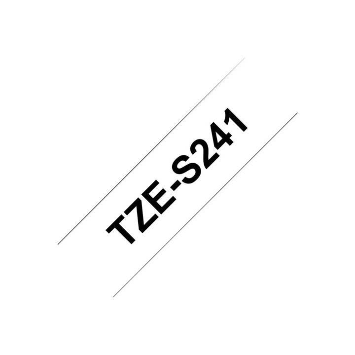 BROTHER TZeS241 Schriftband (18 mm x 8 m, Schwarz / Weiss)