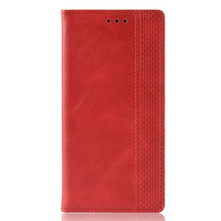 EG Mornrise Custodia a Portafoglio per Samsung Galaxy A40 - Rossa