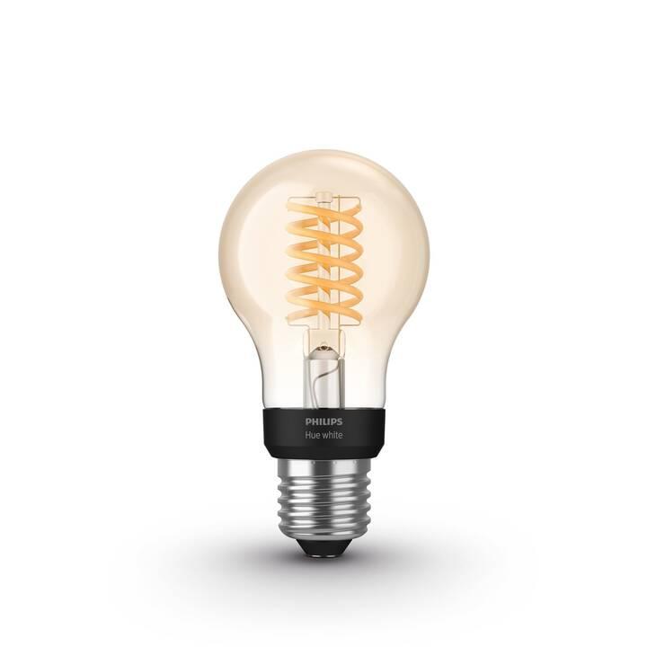 PHILIPS HUE Ampoule LED White Filament BT (E27, 7 W)