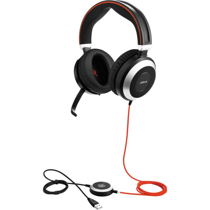 JABRA Evolve 80 UC Stereo (On-Ear, Nero)