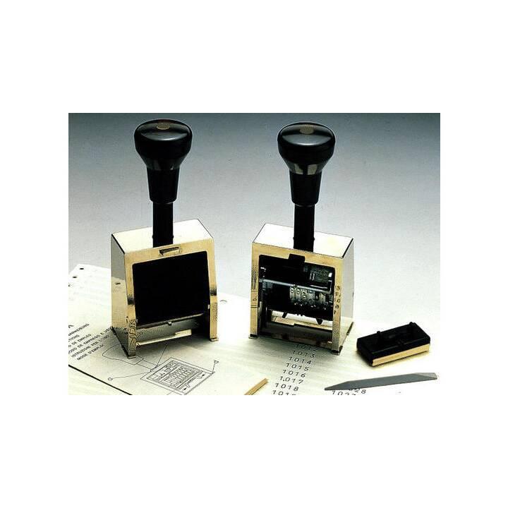 REINE Block Nummerstempel, 5,5 mm, Schwarz, Silber