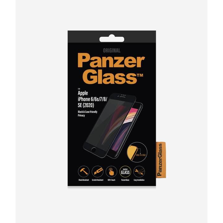 PANZERGLASS Sfoglio protezione da schermo Case Friendly Black  (Chiara, iPhone 6, iPhone 6s, iPhone 7, iPhone 8, iPhone SE)