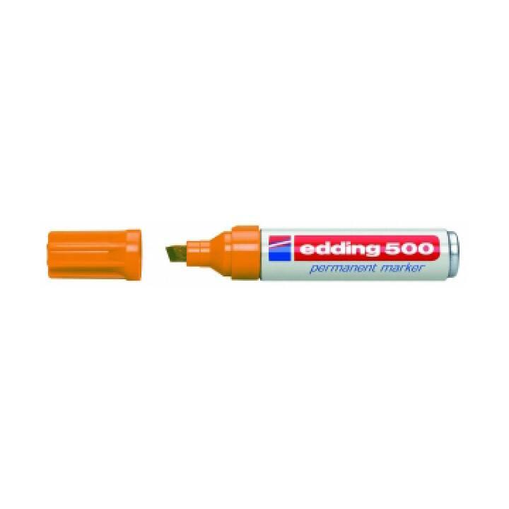 EDDING Permanent Marker 500 (Orange, 1 Stück)