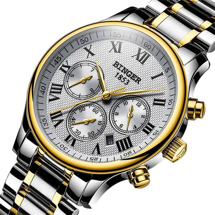 EG BINGER auto mechanische Uhr aus Edelstahl für Herren